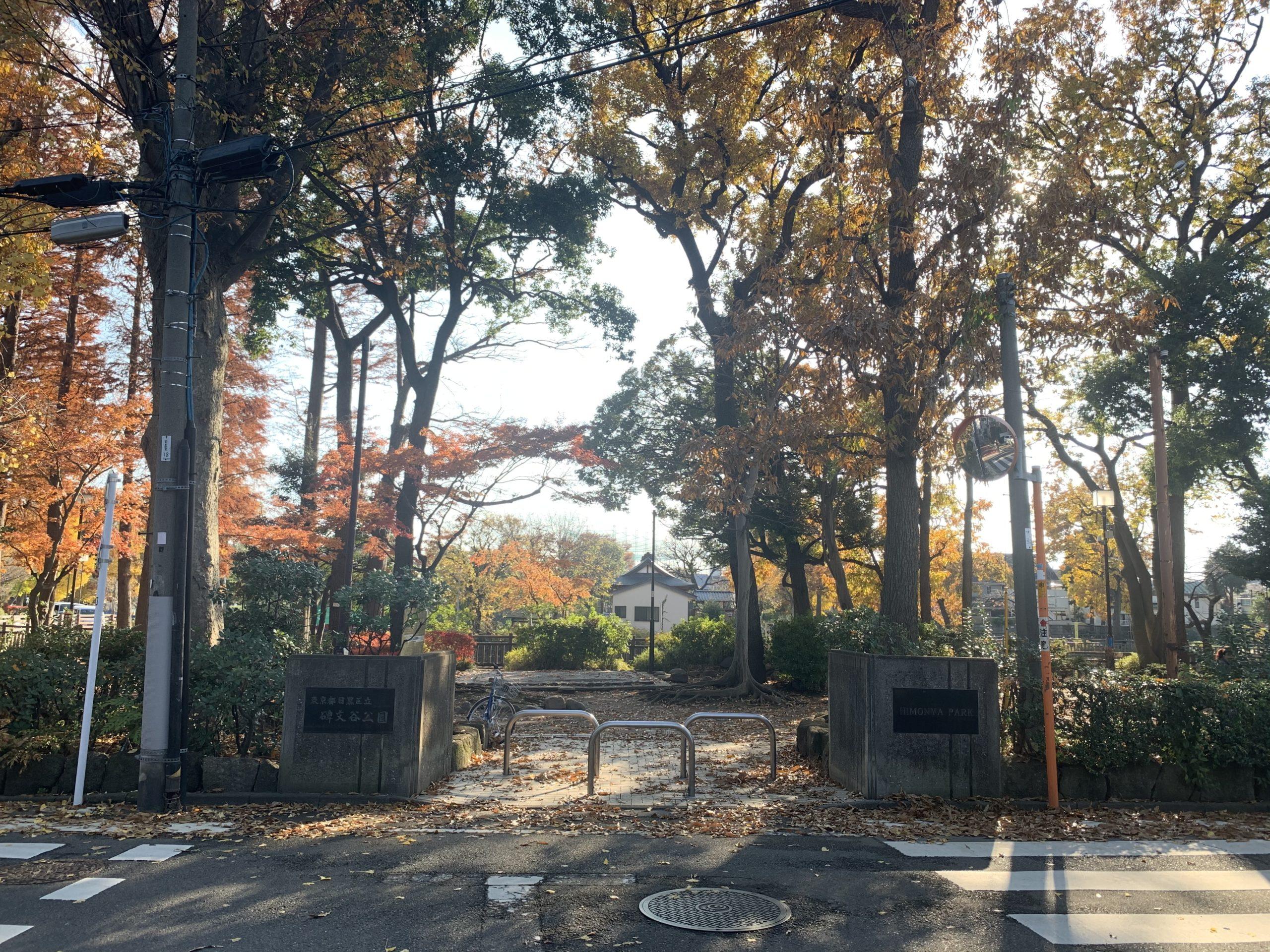 学芸大学駅近の碑文谷公園